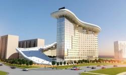 Piste de ski sur immeuble au Kazakhstan