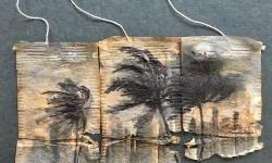 Peintures sur sachets de thé par Ruby Silvious