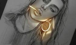 Dessins fluorescents d'Enrique Bernal
